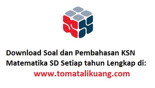 soal pembahasan osn ksn-k matematika sd tahun 2020 tingkat kabupaten kota pdf tomatalikuang.com