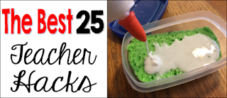 The best 25 teacher hacks, time saving teacher tips, tricks hacks and ideas for back to school save time and money work smarter not harder in the classroom.  Ideas for elementary teachers to stay organized in the classroom saving time and money