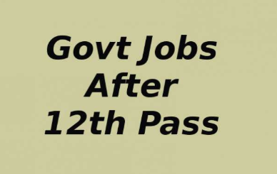 Jobs After 12th