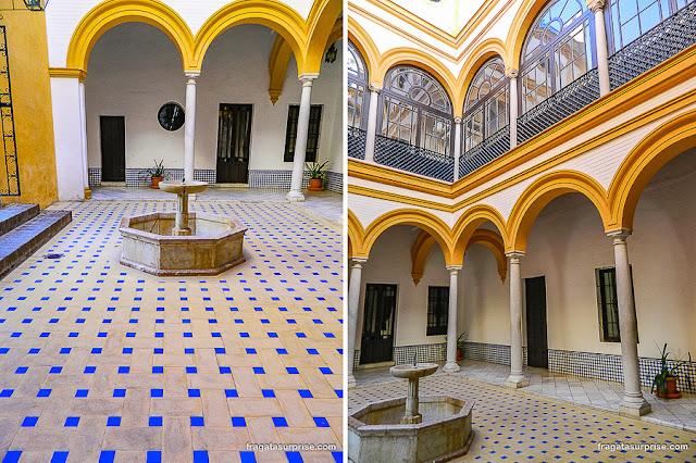 Pátio renascentista no Real Alcázar de Sevilha