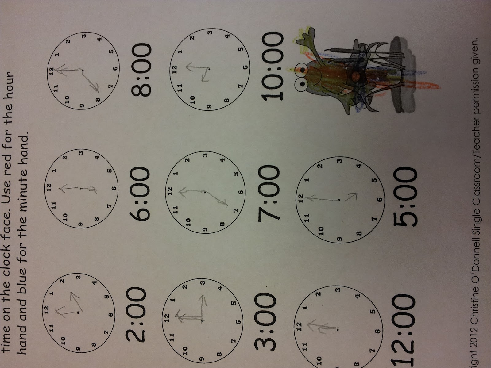 The Crazy Pre K Classroom Teaching Time And Clock