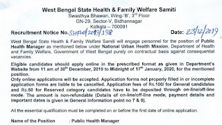 WB Health Public Health Manager (PHM) Recruitment 2020- Previous Question papers