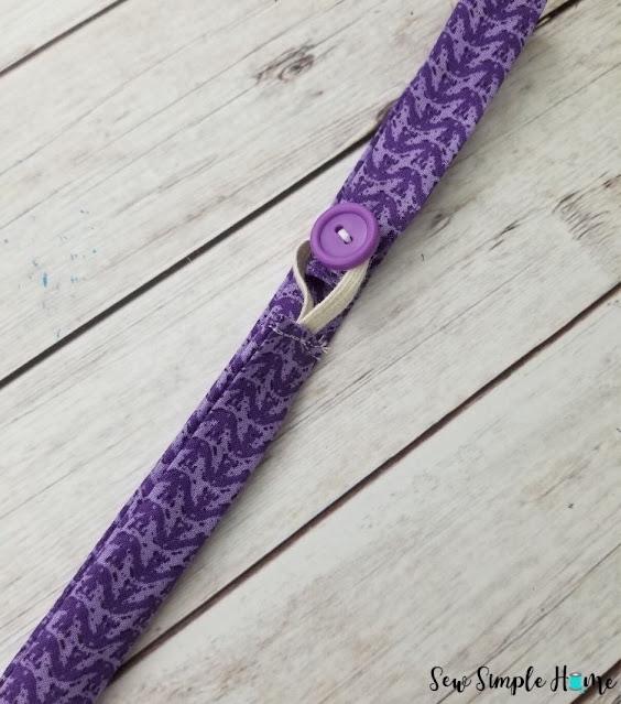 fabric bookmark with elastic