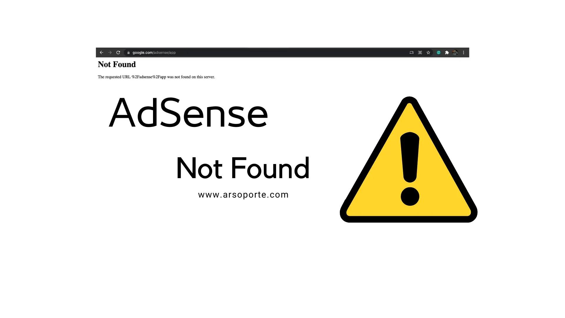 AdSense Not Found