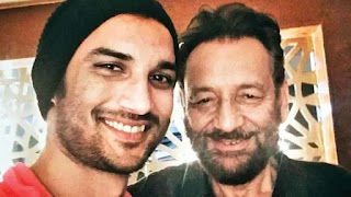 sushant singh rajput with shekhar kapur during meeting for film 'Paani'