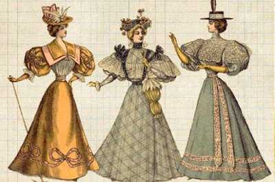 Figure: What did Victorian ladies have to wear all the time whilst in public?