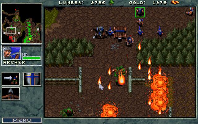 Warcraft 1 Fire Rain Screenshot