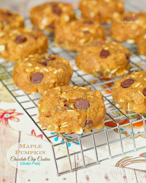 GF Maple Pumpkin Chocolate Chip Cookies by The Sweet Chick