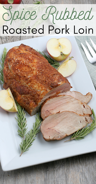 This super simple, no fail oven roasted spice rubbed pork is a perfect weeknight meal, fancy dinner for Thanksgiving, Christmas, or just because! The leftovers are perfect for soups, sandwiches, enchiladas and more!