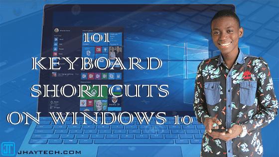 101 Keyboad shortcuts on Windows 10