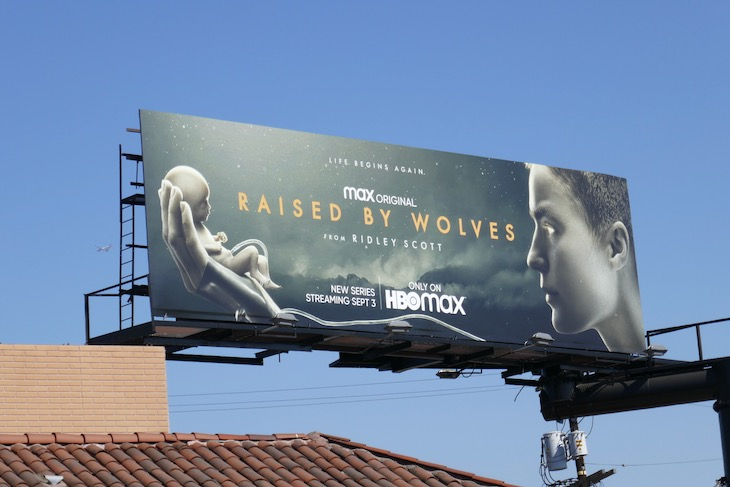 Raised by Wolves series launch billboard