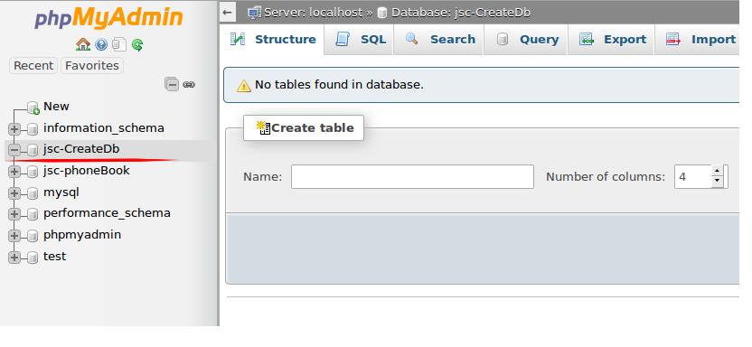 Gambar 6 - Tutorial Database dengan PhpMyAdmin