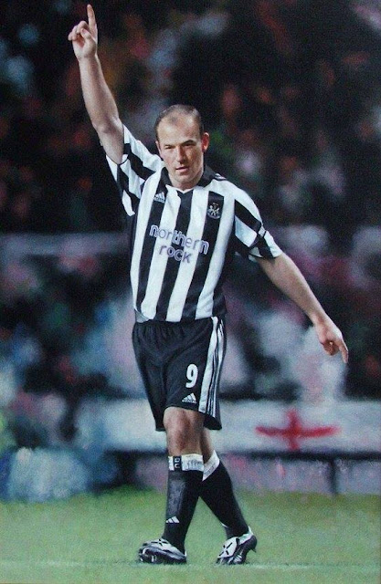 Alan Shearer by Artist John Allsopp oil on canvas painting