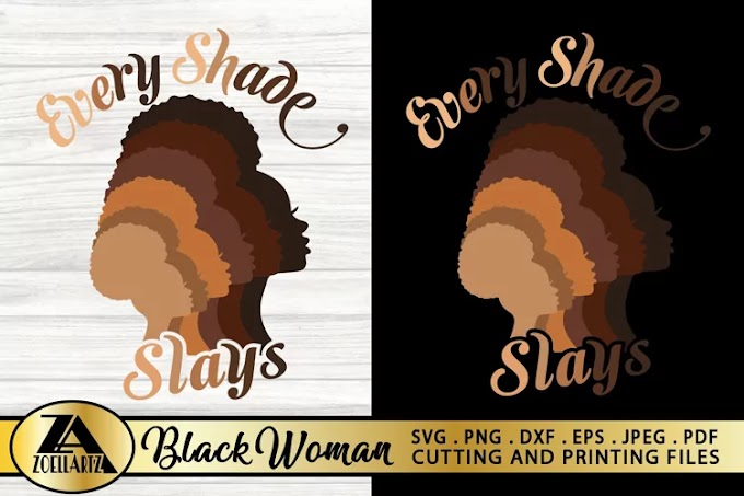 Black Woman SVG PNG EPS DXF Black Girl SVG AFRO Lady SVG