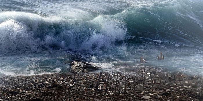 Katoy Oken, Roh Laut Yang Mengakibatkan Tsunami