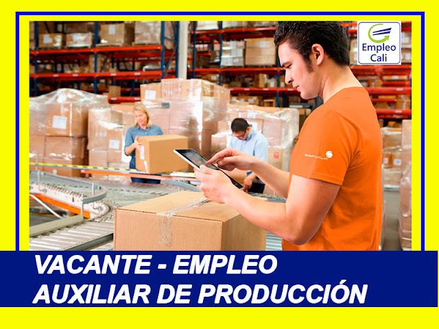 Oferta de Trabajo y Empleo en Cali como Auxiliar de Produccion