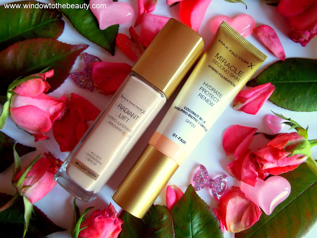 Max Factor Podkład Radiant Lift  vs Max Factor Miracle Touch Second Skin