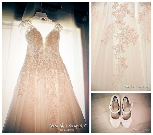 photo robe de mariée, détails et chaussures