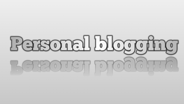 Tip to start a personal blog