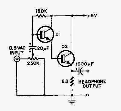 Simple Headphone Amplifier Circuit Diagram | Electronic ...