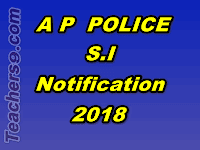 ap police si recruitment notification 2018 @slprb.ap.gov.in