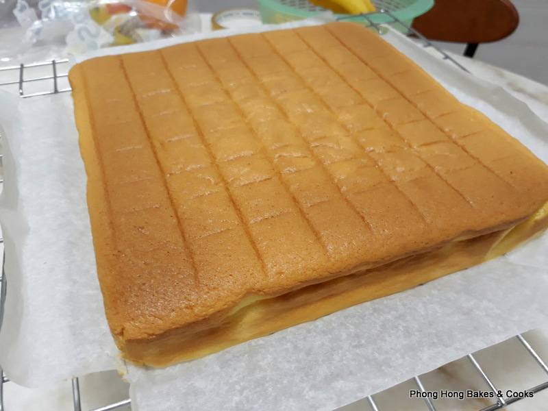 how to make japanese cotton sponge cake