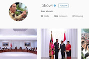 Jokowi (Indonesia President) now has official Instagram Account