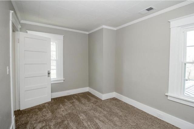 carpeted upstairs bedroom with craftsman trim • 24 Massie Avenue, Paris, Kentucky, Sears Norwood model