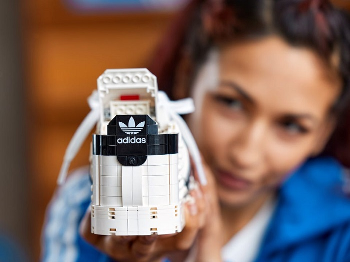 Make your own lego adidas shoes
