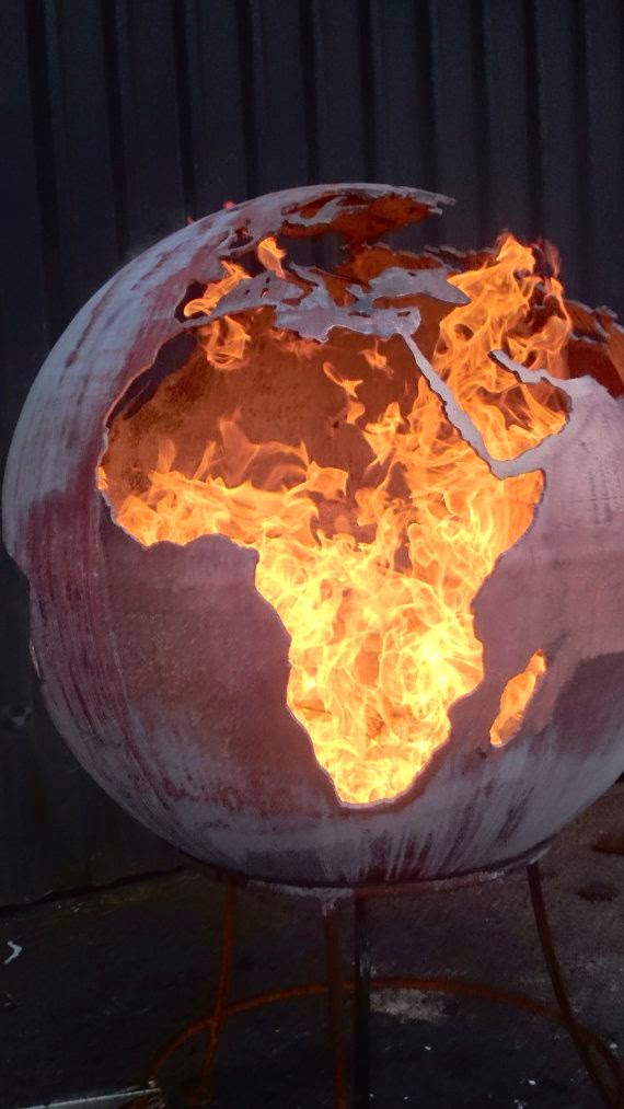 sphere campfire backyard firepit