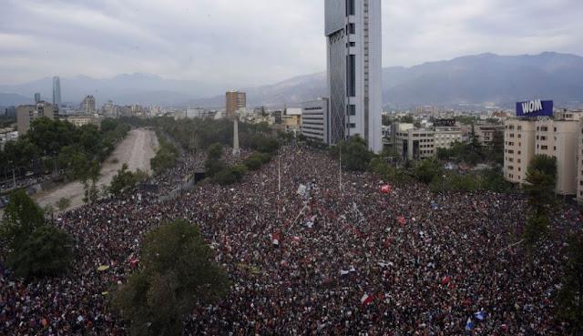Histórica marcha en Chile concentra más de un millón de personas en la capital
