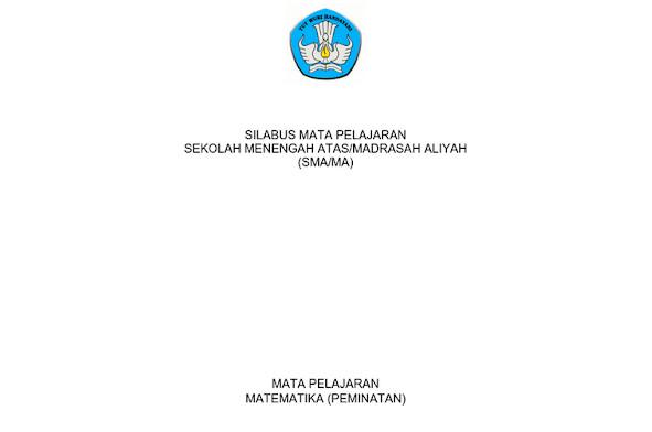 Silabus Matematika Peminatan Kurikulum 2013 Revisi 2017 PDF