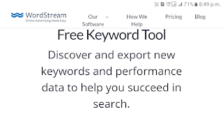 Wordstream keyword reasearcher