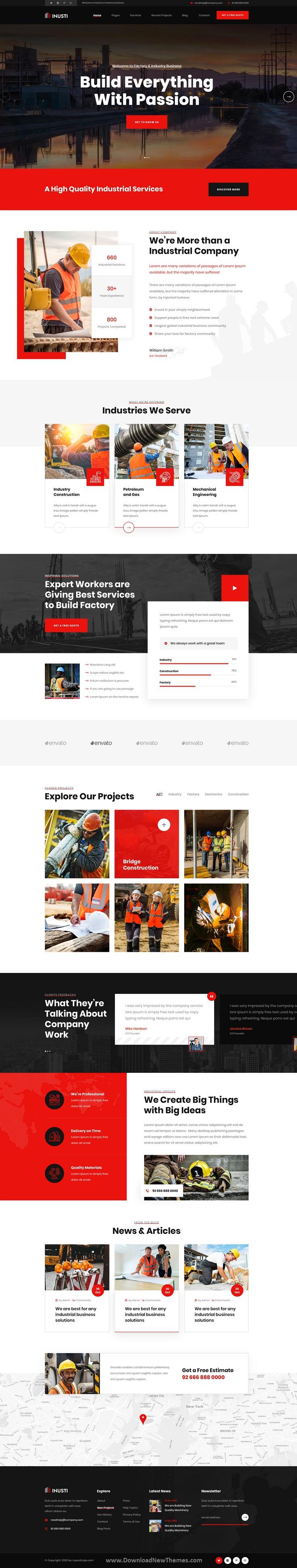 Best Industrial & Factory Business PSD Template