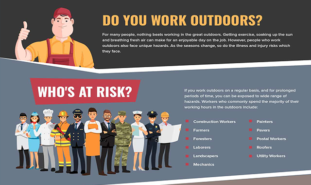 Outdoor Workers Safety #infographic