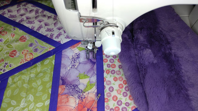 walking foot straight line quilting