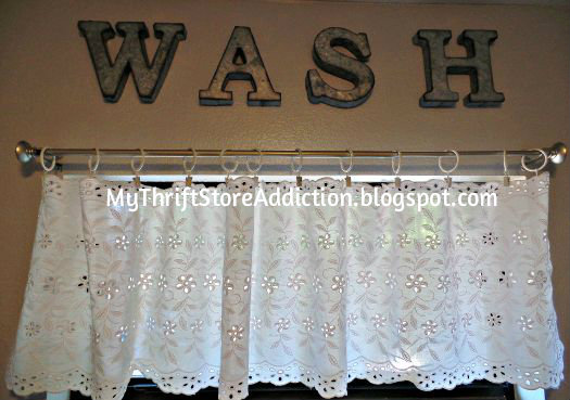 Vintage table runner valance