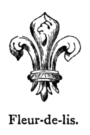 Fleur-de-lis heraldic emblem in Shakespeare