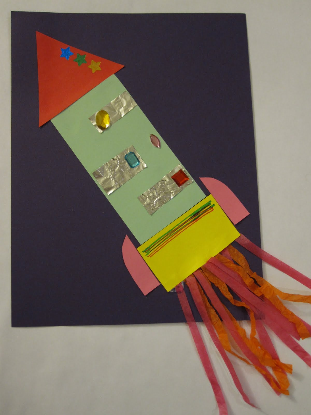 Toddler Approved Rocket Shape Collage