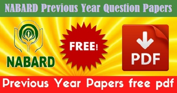 NABARD Previous Year Question Papers