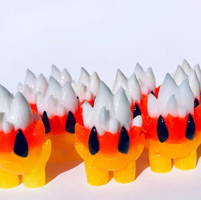Candy Corn Edition Honoo & Spark Halloween Resin Figures by Leecifer