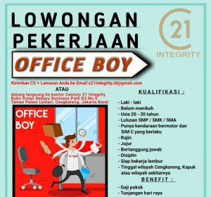 Info Loker : Lowongan Kerja OB (Office Boy) Banda Aceh