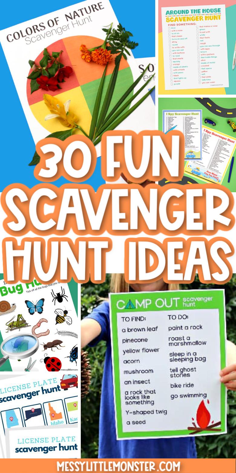 30 scavenger hunts for kids