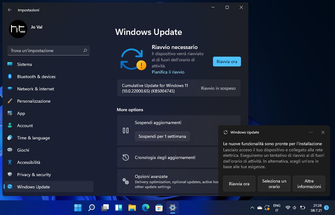 In Windows 11, i Cumulativi sono (anche) Aggiornamenti di funzionalità