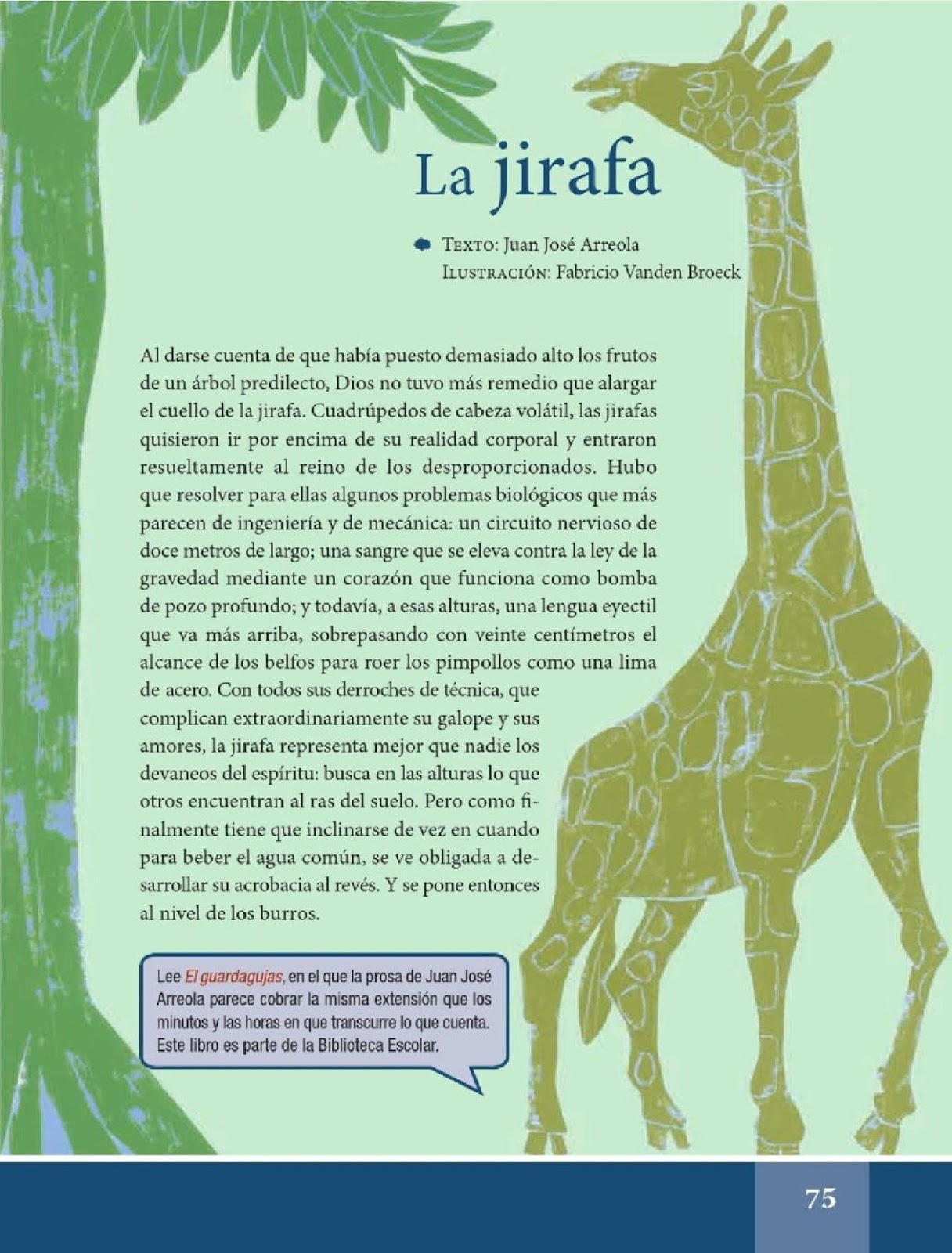 La jirafa - Español Lecturas - Sexto Grado ~ Apoyo Primaria