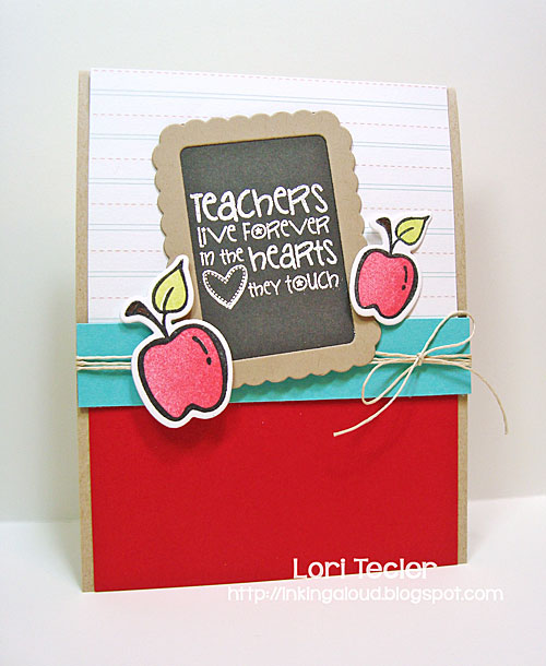 Teachers Count card-designed by Lori Tecler/Inking Aloud-stamps and dies from Verve Stamps