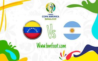 ملخص مباراة الارجنتين ضد فنزويلا مباشرة في ربع نهائي كوبا امريكا