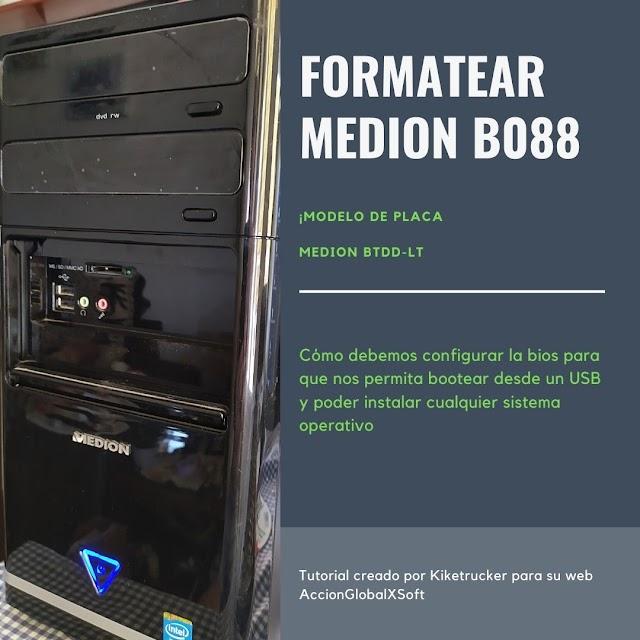 Configurar BIOS Aptio de American Megatrends en MEDION B088 para poder formatear