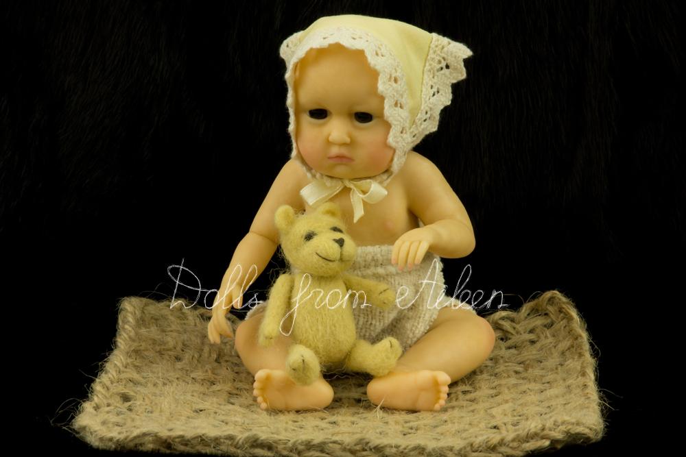 OOAK anatomically correct sitting baby girl doll
