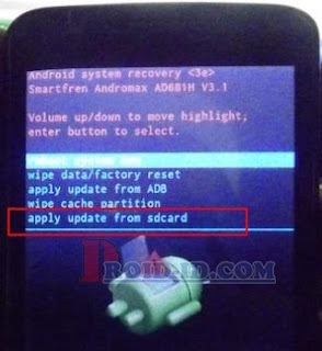 apply update from sdcard andromax g2